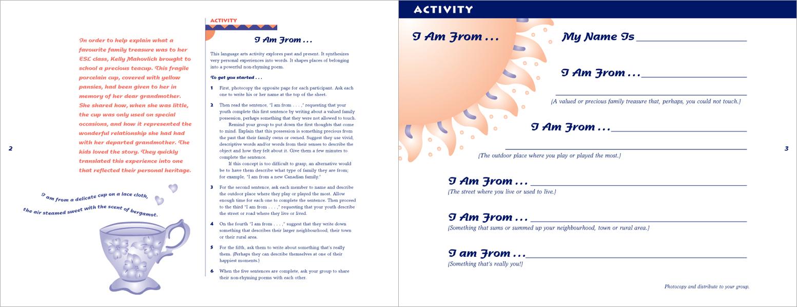 Activity guide interior spread