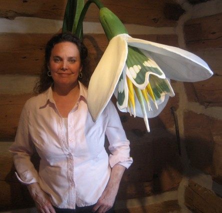The artist and her snowdrop