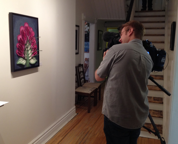 Peter filming clover