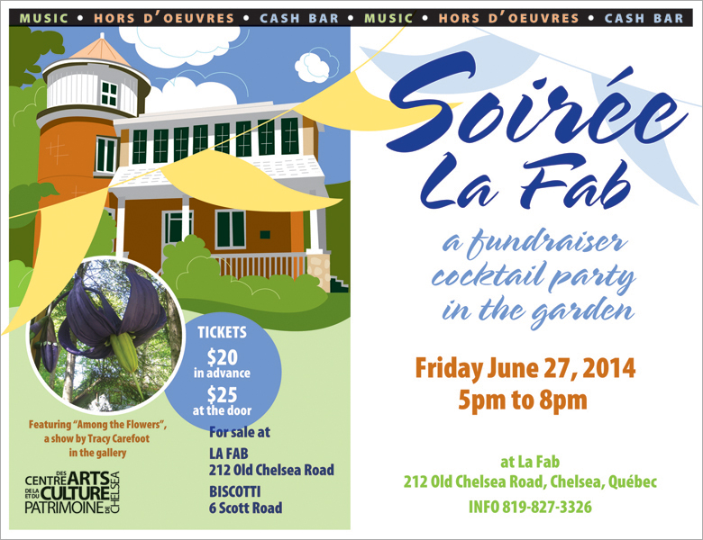 Soirée La Fab fundraiser poster in English